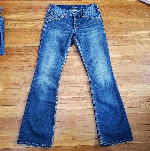"Silver Jeans Denim - 32"" Inseam - Silver Suki Surplus Jeans"
